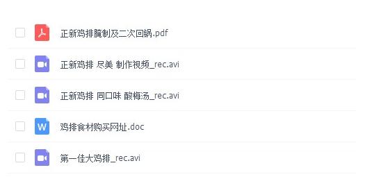 【文字教程】正新鸡排技术资料